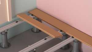 Continue with the adjacent slats