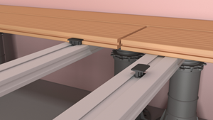Fix the slats to the joist by means of