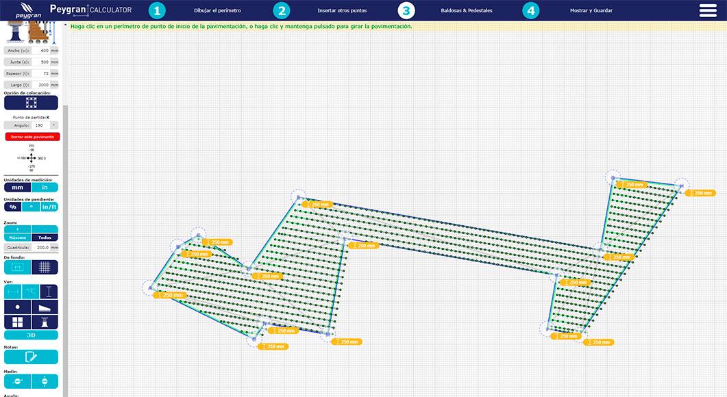 Calculator Peygran Plano Plots Pavimento Elevado